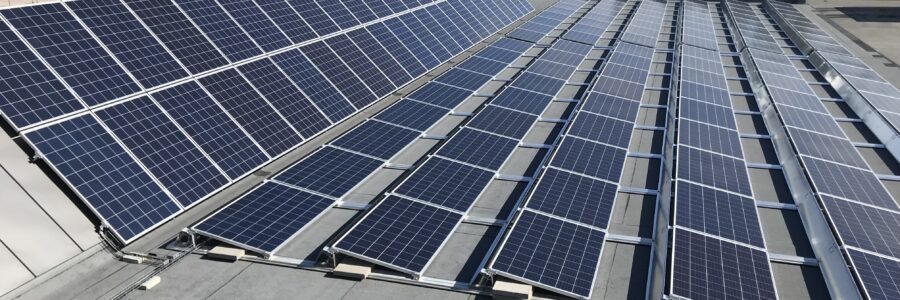 Solceller på Lanternin regionbussdepå Fyrislund